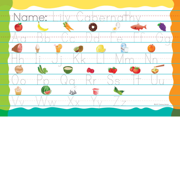 Personalized Alphabet Printing Placemat