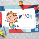 Personalized Placemat- Blue