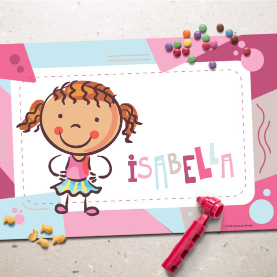Pink Personalized Placemat