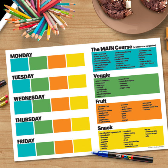 Kids Lunchbox Planner