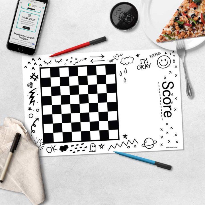 Kids Doodle Games Mat