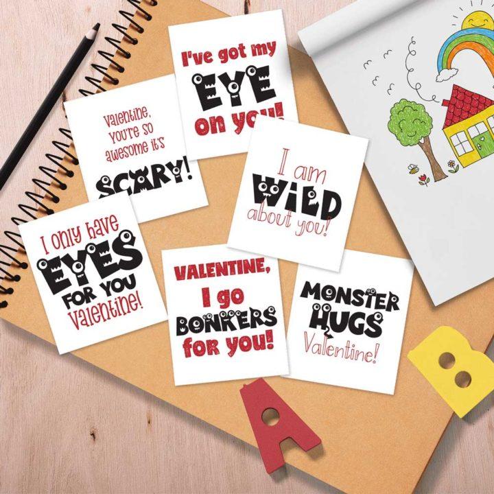 Monster Printable Valentines