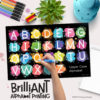 Brilliant Alphabet Printing Placemat
