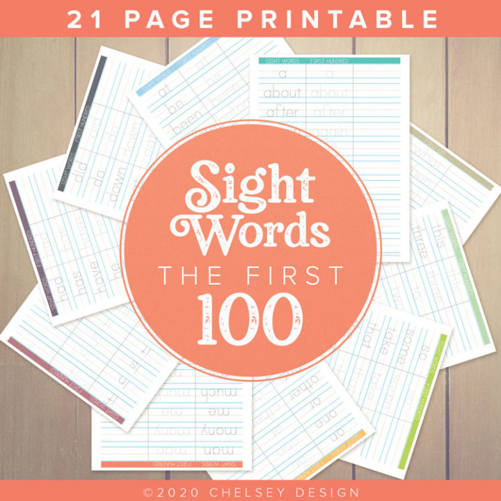 Sight-Words-First-100-Printable