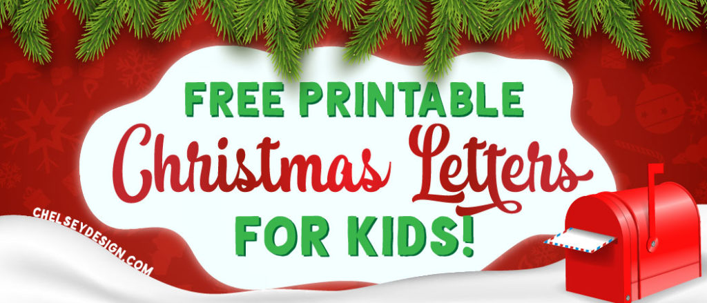 Free Printable Christmas Letters for kids