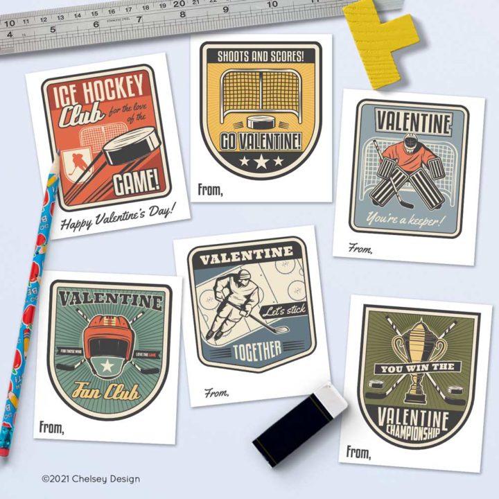 Hockey Valentines Cards