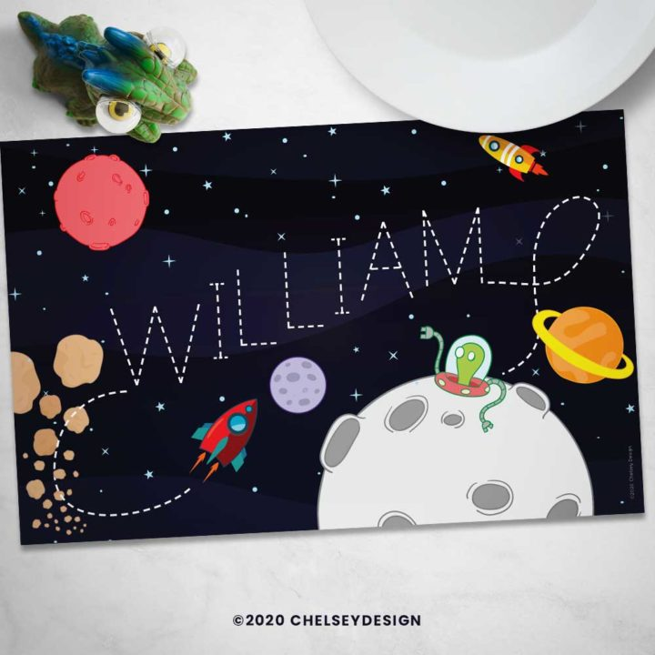 Outer Space Personalized Placemat