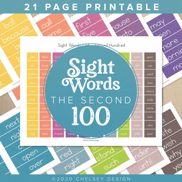 Sight Words-The Second Hundred Printable