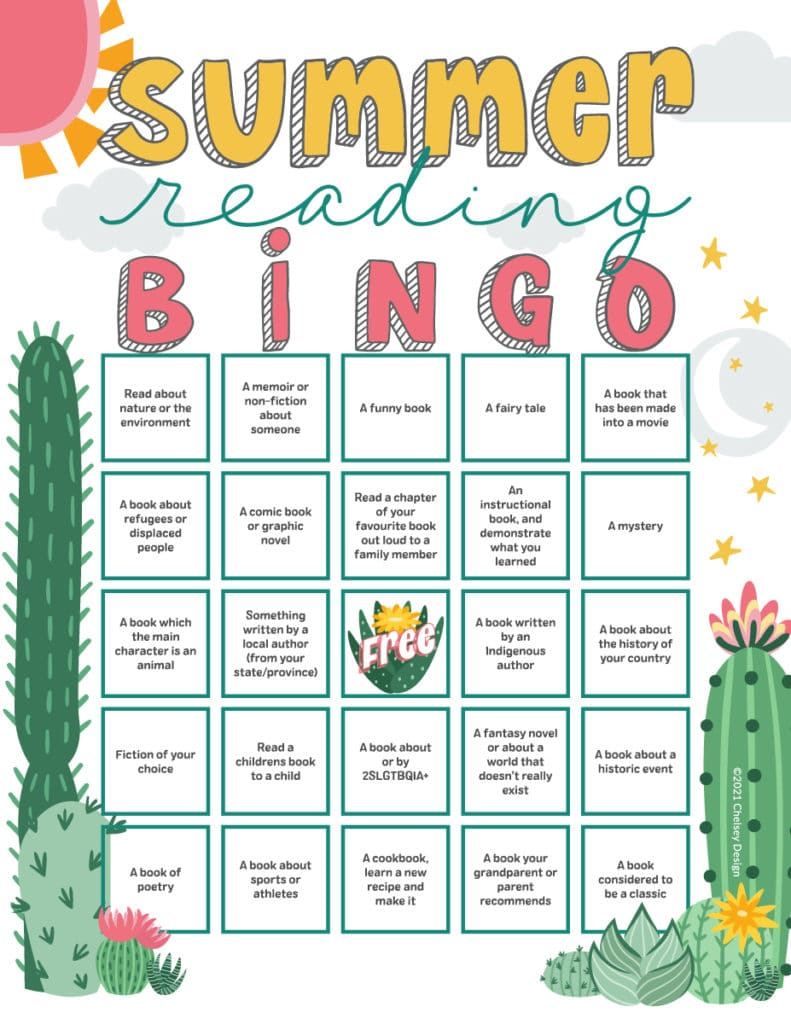 Summer Reading Bingo Printable by Chelsey Design